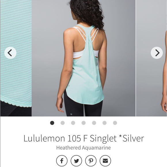 Lululemon 105 F Singlet Heathered Aquamarine, 6